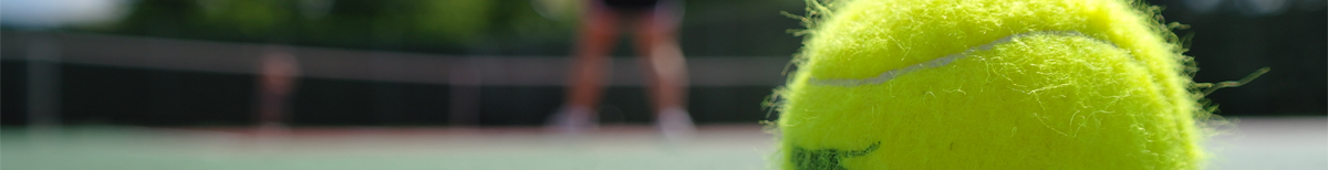 Header image of tennis court for FAQ